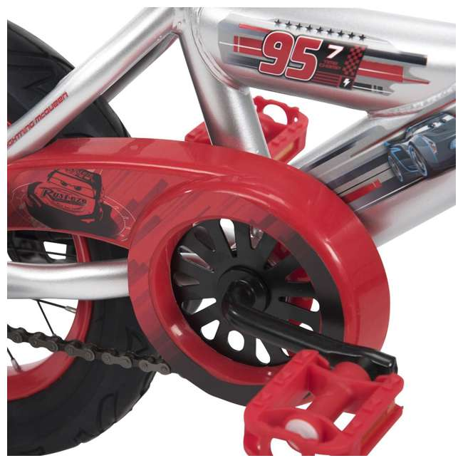 22449 Huffy 22449 12-Inch Single Speed Disney-Pixar Cars Bike for Ages 3 to 5, Red 3