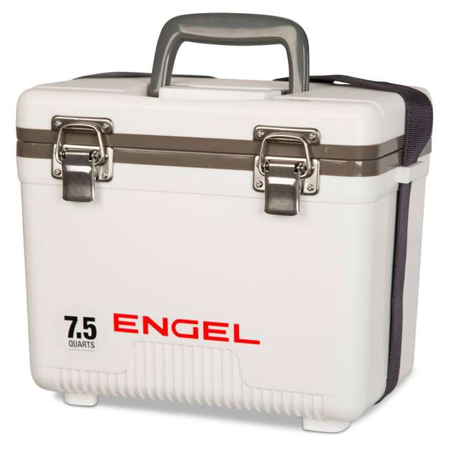 UC7 Engel 7.5-Quart EVA Gasket Seal Ice and DryBox Cooler with Carry Handles, White 2