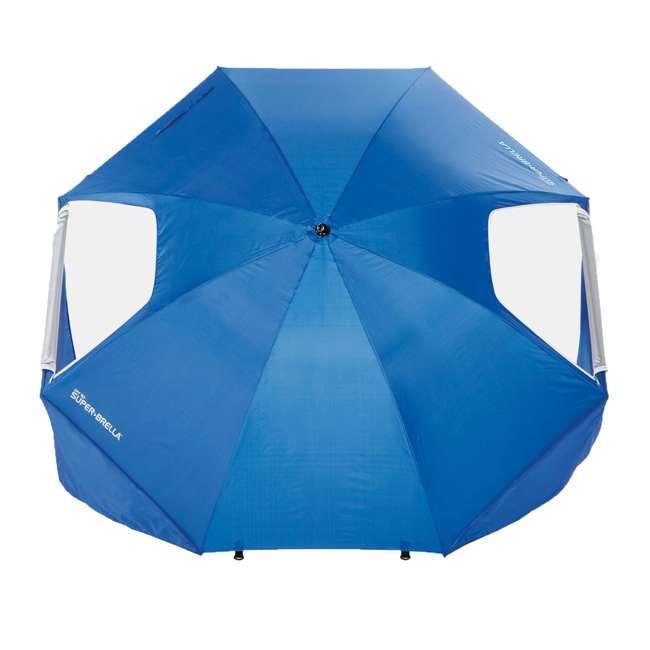 BRE01-SUP-075-2 Sport-Brella Super-Brella 8-Foot Portable Sun Shelter Weather Umbrella, Blue  1