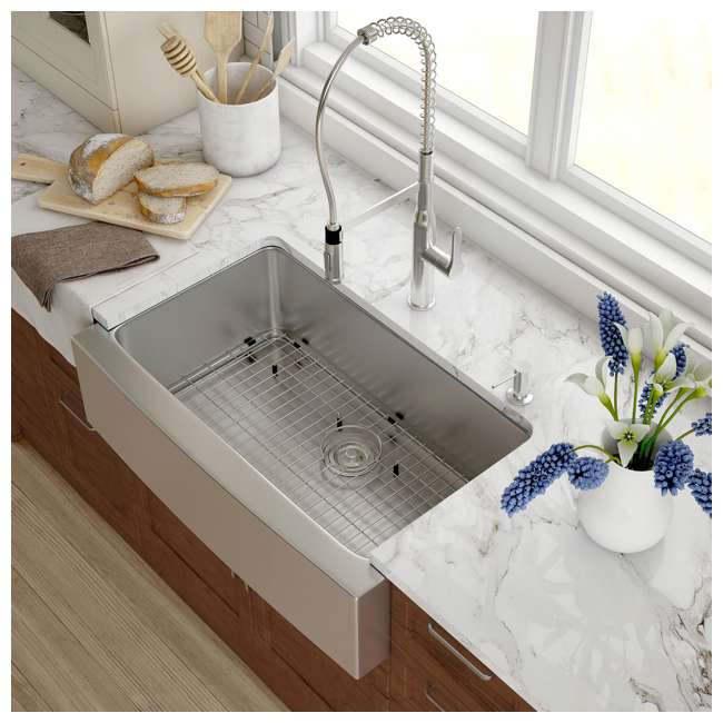 KHF200-33-OB Kraus 33-Inch Farmhouse Single Bowl Stainless Steel Kitchen Sink (OPEN BOX) 2