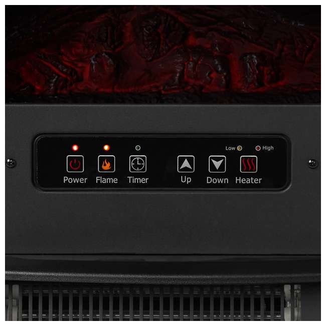 LIM-19-100005 Limina Indoor Electric 1500W Stove Fireplace Infrared Quartz Space Heater, Black 5