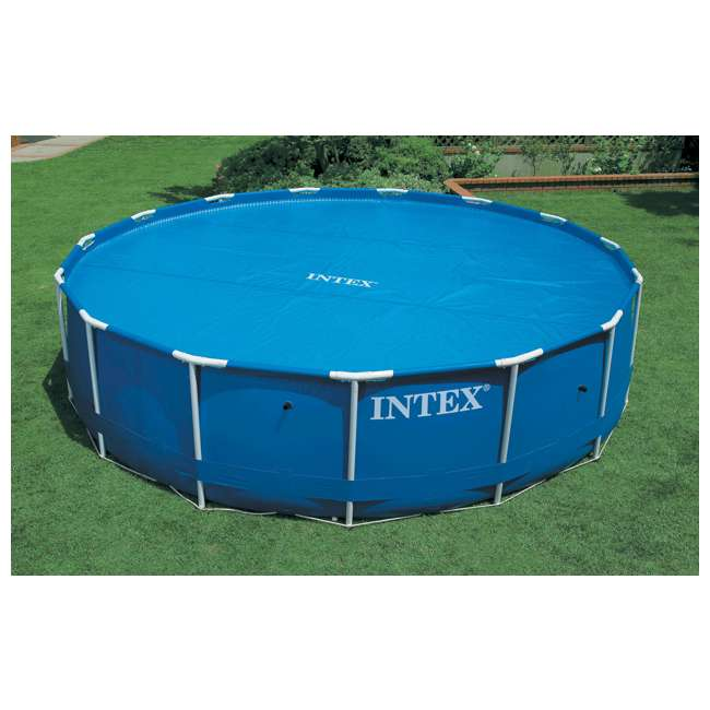 Intex 18 39 easy set frame swimming pool solar cover 59955e for Swimming pool equipment suppliers