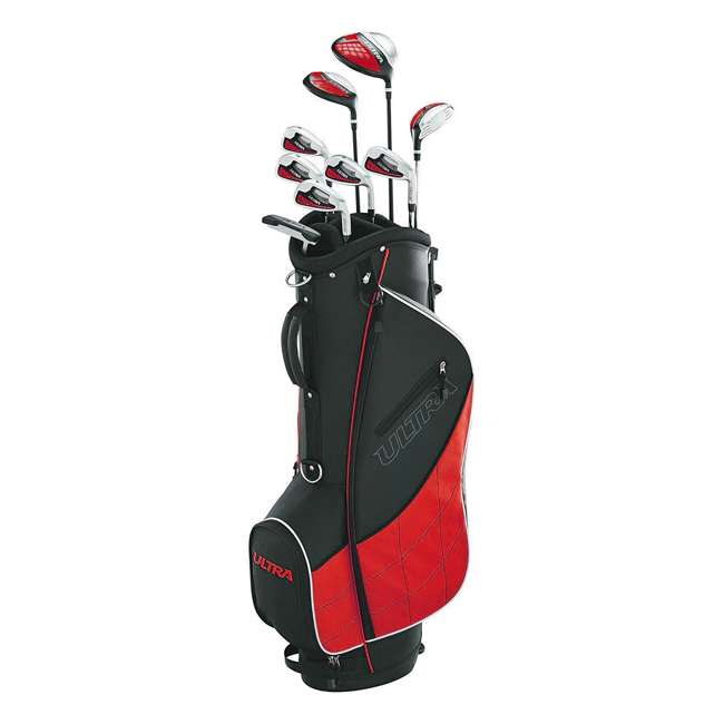 WGGC4320L + 2SKB-1649W Wilson Men's, Left-Handed Golf Club Set  & Wheeled Travel Case 2