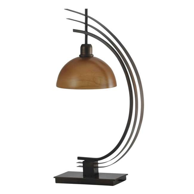 SC-L313895 Abode 84 Bronze Arc Metal Accent Lamp with Glass Globe
