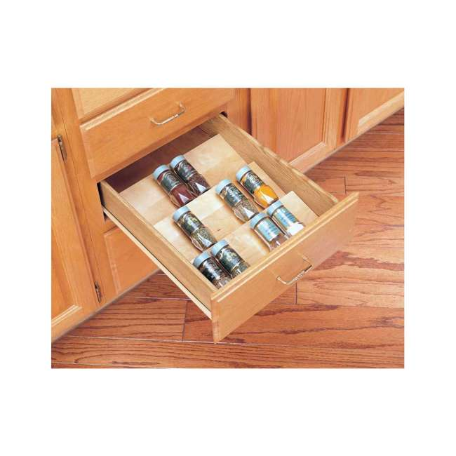 "4SDI-18-U-A Rev A Shelf 18"" Wood Spice Kitchen Drawer Insert, Maple  (Open Box)  (2 Pack) 4"