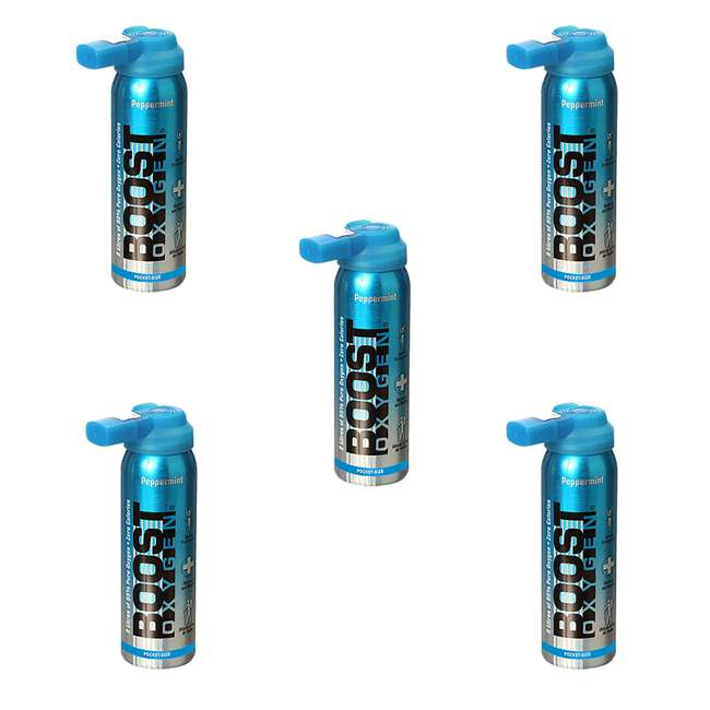 5 x 402-BOOST Boost Oxygen 2-Liter Natural Oxygen Canister (5 Pack)