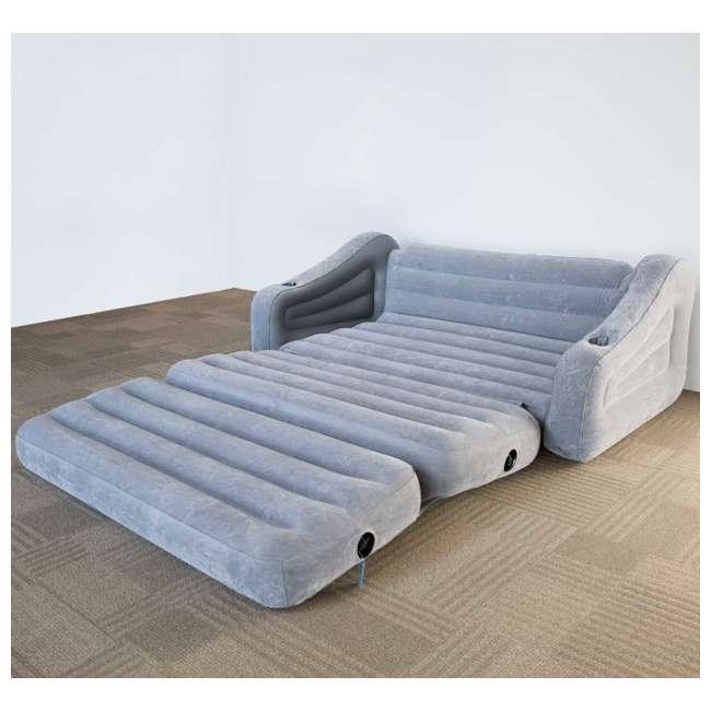 68566VM + 66641E Intex Inflatable Sofa and Air Mattress with Electric Air Pump 6