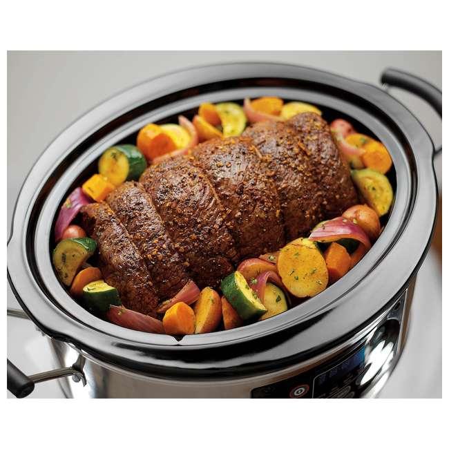 33473 + SLOWCOOKER175 Hamilton Beach Countertop 7 Qt Programmable Slow Cooker & 175 Recipe Cookbook 3