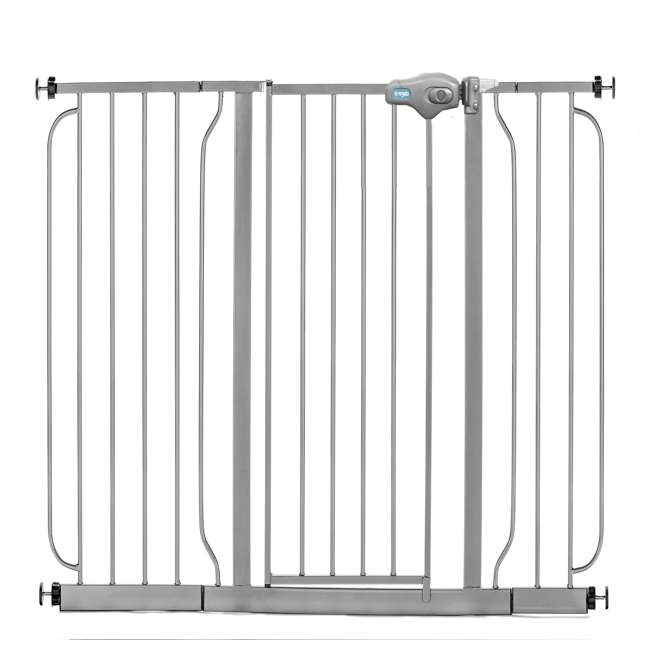 """1164EPDS-U-A Regalo 51"""" Easy Step Extra Wide Baby & Pet Safety Gate, Platinum (Open Box)"""