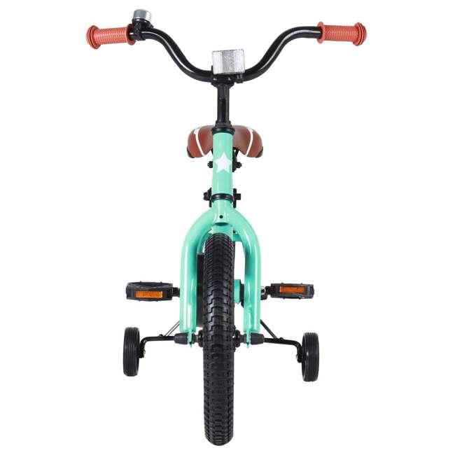 BIKE016gr-16 JOYSTAR Totem Series 16-Inch Kids Bike with Training Wheels & Kickstand, Green 2