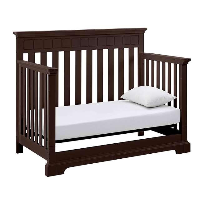 04565-509 + EM711-GJL1 Thomasville Kids Willow Crib, Espresso & Sealy Soybean Crib Mattress 6