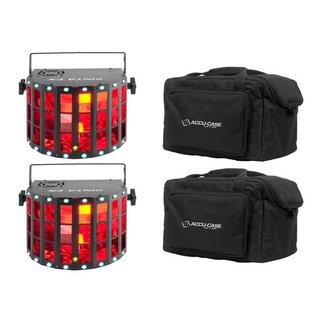 KINTA-FX + 2 x F4PAR-BAG Chauvet DJ Beam Light with Laser, Strobe + Light Case (2 Pack)