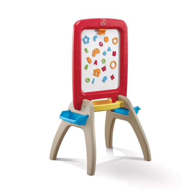 826800 Step2 All Around Easel for Two Kids Dry Erase Chalkboard Easel