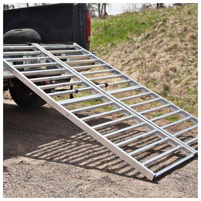 "YUTX108 Yutrax 85 x 50"" 1600 LB Aluminum Bi-Fold Truck Bed ATV Loading Ramp (2 Pack) 2"