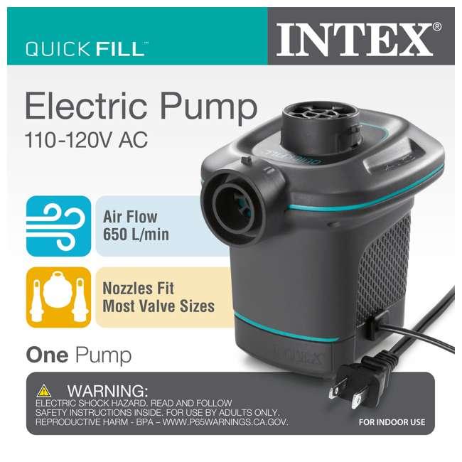 68575VM + 66639E Intex Inflatable Corner Sofa w/ Quick Fill AC Electric Air Pump 9