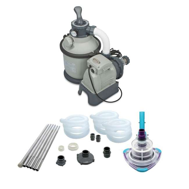 Intex 1200 gph krystal clear sand filter pump kokido v for Garden pool pumps and filters