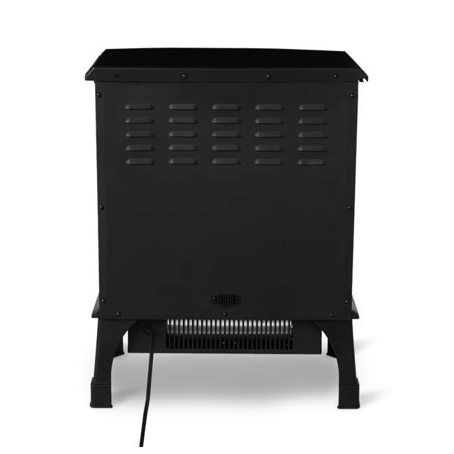 LIM-19-100005 Limina Indoor Electric 1500W Stove Fireplace Infrared Quartz Space Heater, Black 4