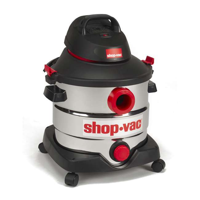 5989400 Shop Vac Stainless Steel Portable 8 Gallon Wet Dry Vacuum Floor Cleaner & Blower 2
