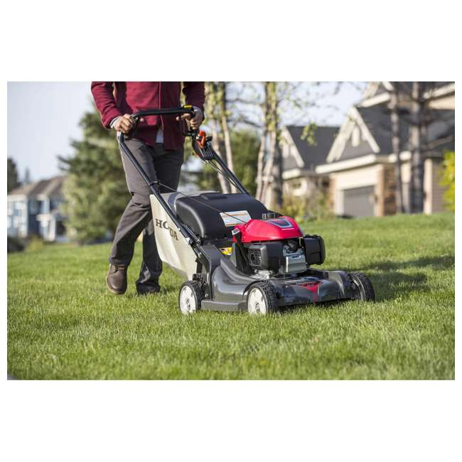HRX217K6HYA Honda HRX217K6HYA 21 Inch 4 In 1 Versamow System Gas Walk Behind Lawn Mower, Red 4