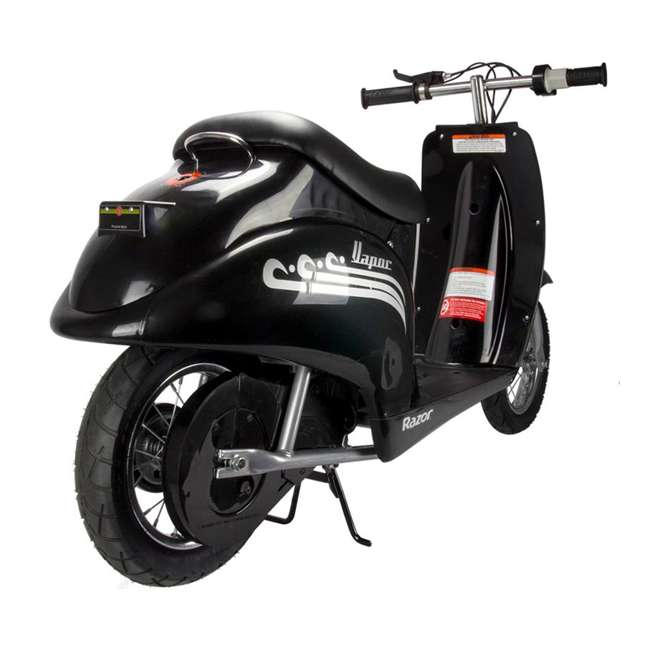 15130601 + 2 x 97778 Razor Pocket Mod Electric Retro Scooter, Black (2 Pack) + Helmets 5