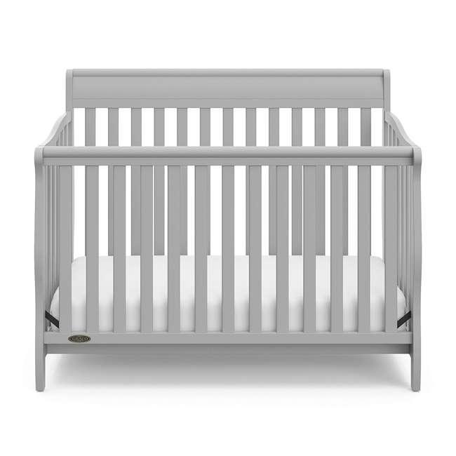 04530-66F + 06711-300 Graco Stanton 4-in-1 Crib in Pebble Gray w/ Natural Foam Mattress 2