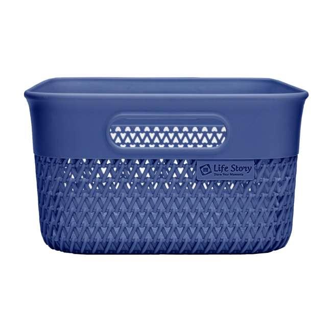 6 x BSK-10-BLU Life Story Lightweight Storage Woven Trendy Basket 10 Quarts, Blue (6 Pack) 2