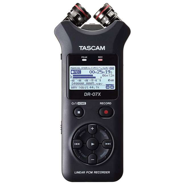 DR-07X + SD4-16GB-SAN Tascam DR-07X Stereo Handheld Digital Audio Recorder + 16GB SD Memory Card 1