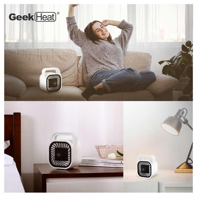 HA31-05E Geek Heat HA31-05E 500 Watt Mini Personal Portable Ceramic Fan Space Heater (2 Pack) 5
