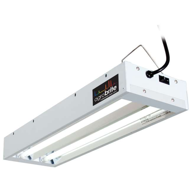 FLT22 Hydrofarm Agrobrite 48 Watt 2 Tube Fluorescent Fixture with Lamps (For Parts)