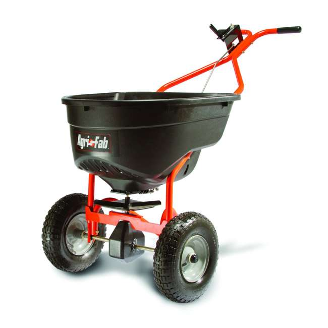 45-0462 Agri Fab Large Capacity 130 Pound Push Broadcast Spreader, Orange