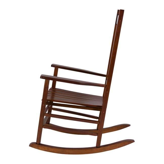 SHN-4332OA Shine Company Vermont Hardwood Outdoor Porch Patio Furniture Rocker Chair, Oak 3