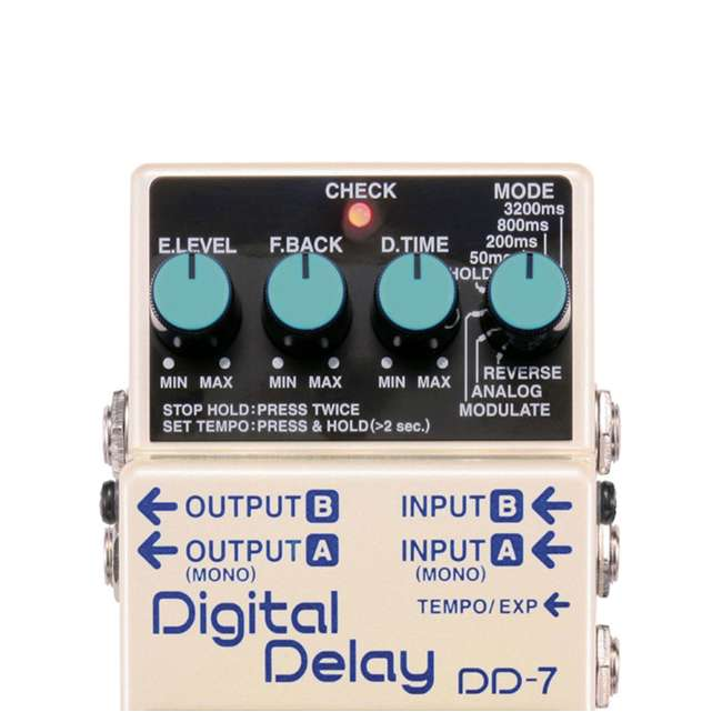 4 x DD-7 Boss DD-7 Digital Delay Effects Guitar and Bass Pedal (4 Pack) 3
