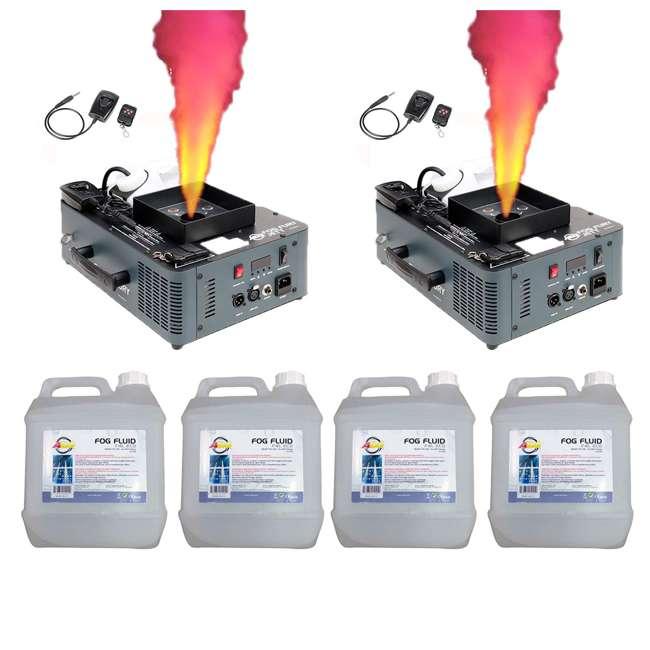 FOG-FURY-JETT + 4 x F4L-ECO American DJ Fog Fury Jett Smoke Machine (2 Pack) & Juice (4 Pack)