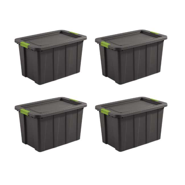 4 x 15273V04 Sterilite Tuff1 Latching 30 Gallon Plastic Storage Tote Container & Lid (4 Pack)