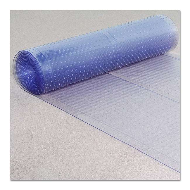 184013 ES Ribbons 10 Feet x 27 Inch Cleated Clear Carpet Floor Runner, Vinyl 2