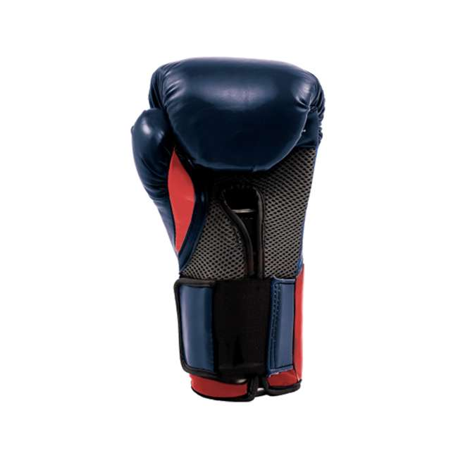 P00001204 + 4455-3 Everlast 16 Ounce Boxing Gloves, Navy/Red & Hand Wraps (3 Pack) 3
