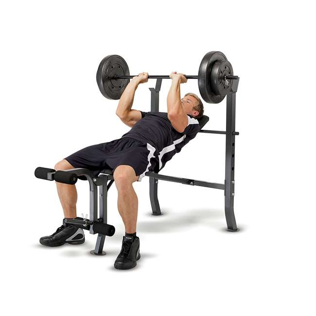 Marcy standard bench with lb weight set home gym
