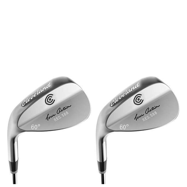 4816-588-L60 Cleveland Golf 588 60-Degree Tour Action Wedge, Left-Handed  (2 Pack)