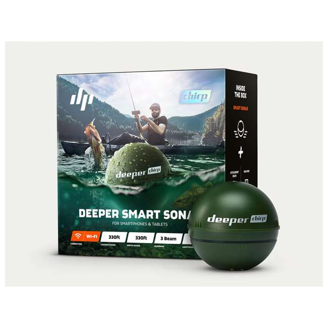 ITGAM0631 Deeper Chirp Smart Sonar Castable Portable Fish Finder and Depth Finder 1