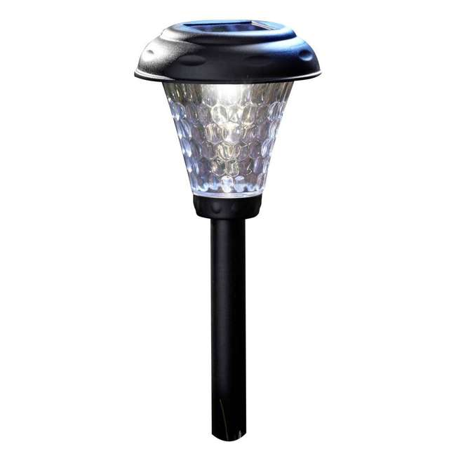 MR-91381 Moonrays 91381 Payton 2.4 Lumens Solar LED Plastic Landscape Path Lights, 8 Pack