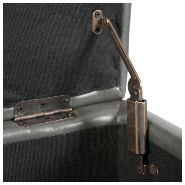 501 American Furniture Classics 501 Gun Concealment Storage Bench, Gunmetal Gray 3