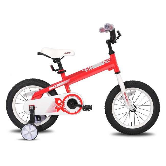 BIKE029rd-16 JOYSTAR Whizz Series 16-Inch Ride On Kids Bike with Training Wheels, Red & White 1
