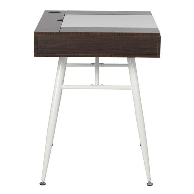 51251 Calico Designs 51251 Nook Desk with Storage Compartments, White/Dark Walnut 1