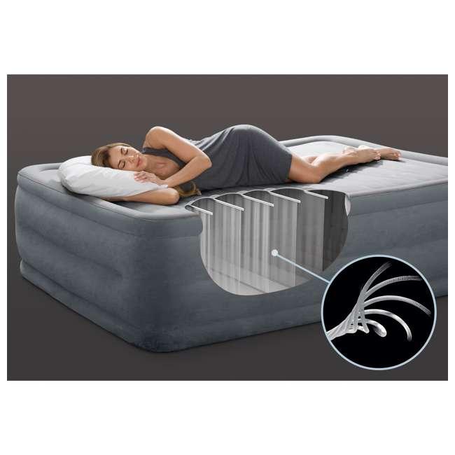 64417E Intex Queen Comfort Plush High Rise Dura-Beam Air Bed Mattress w/ Built-In Pump 64417E 3