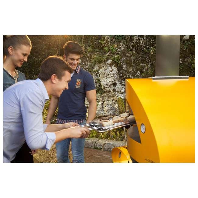 FXALLE-LGIA Alfa FXALLE-LGIA Allegro Outdoor Steel Italian Pizza Wood Oven with Base, Yellow 5
