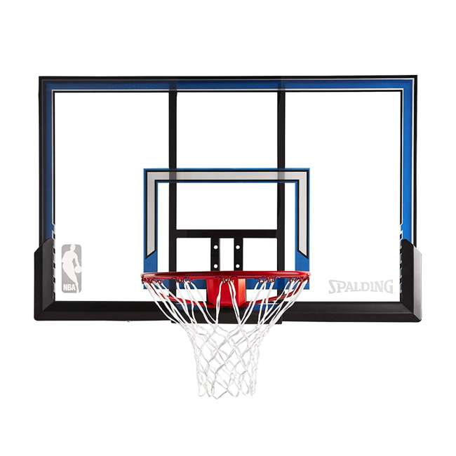 "79349 Spalding 50"" Outdoor Polycarbonate Basketball Backboard & Hoop"