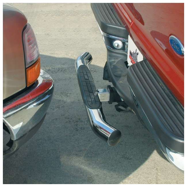 "360C Go Rhino 360C 36"" Chrome Finish Steel Bumper Tow Hitch Step Bar for 2"" Receivers 4"