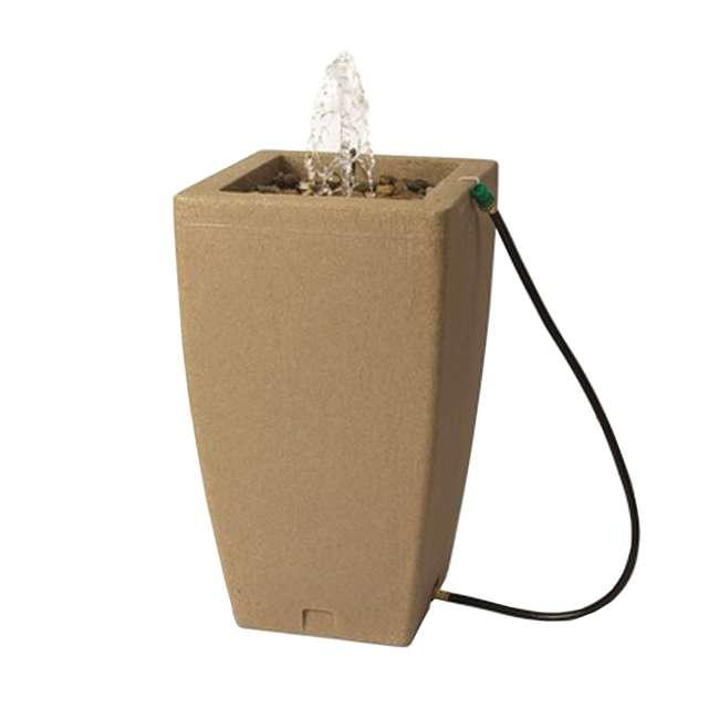 ALG-84231 Algreen Madison 49-Gallon Rain Water Barrel & Fountain, Sandstone
