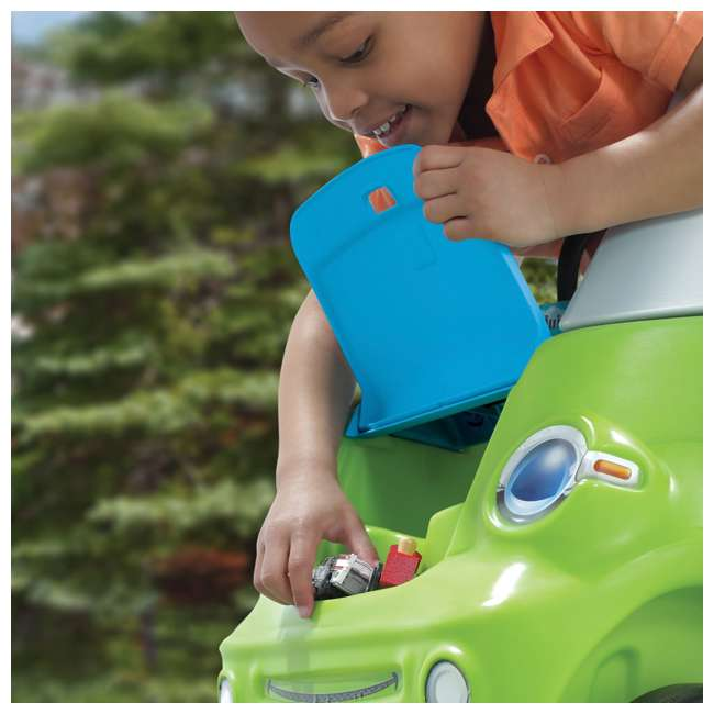845100-U-A Step2 Toddler Push Ride On Toy Car for Kids Easy Turn Coupe in Green (Open Box) 4