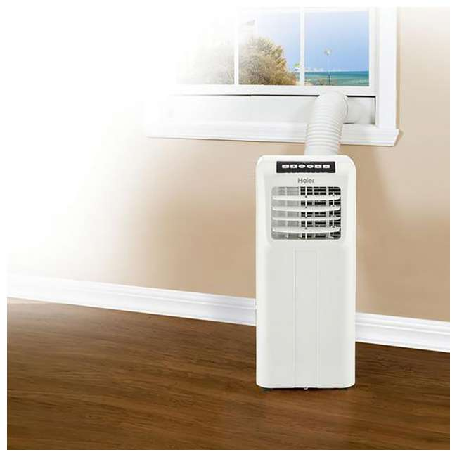 3 x HPP08XCR-U-A Haier Portable 8,000 BTU AC Unit with Remote, White (Open Box) (3 Pack) 1